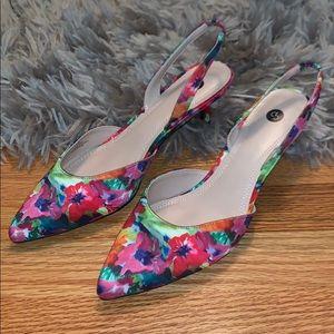 Dressbarn   Emilee Multi Color Floral Heels